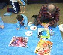 造形あそび教室 絵具を使って楽しくお絵かき!